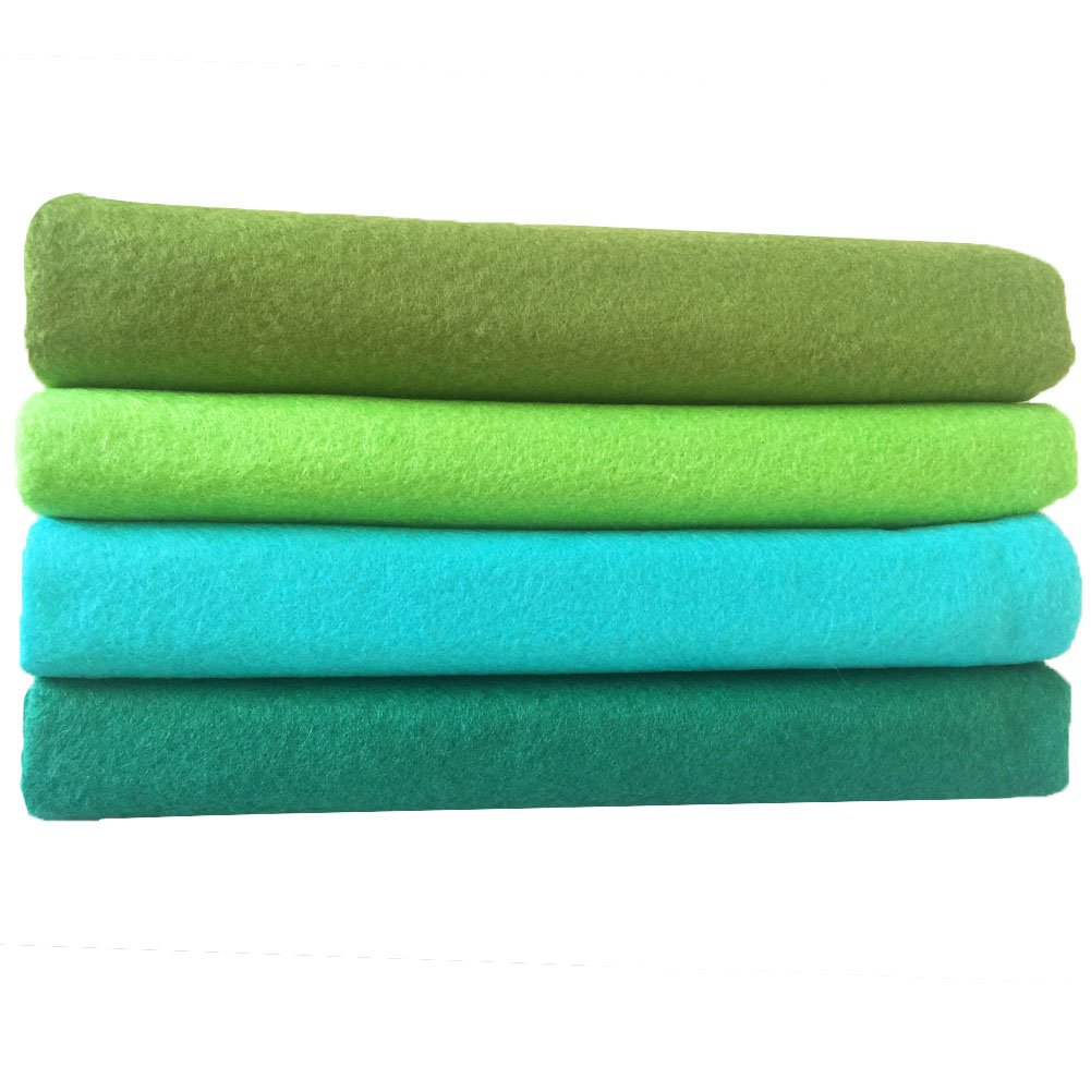 flic-flac 28pcs 8 x 8 inches 20cmx20cm 1.4mm Thick Soft Felt Fabric Sheet Assorted Color Felt Pack DIY Craft Sewing Squares Nonwoven Patchwork