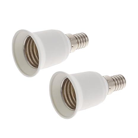 Smartfox – Casquillo adaptador conversor de portalámparas E14 a E27 Portalámparas para bombillas LED de bajo