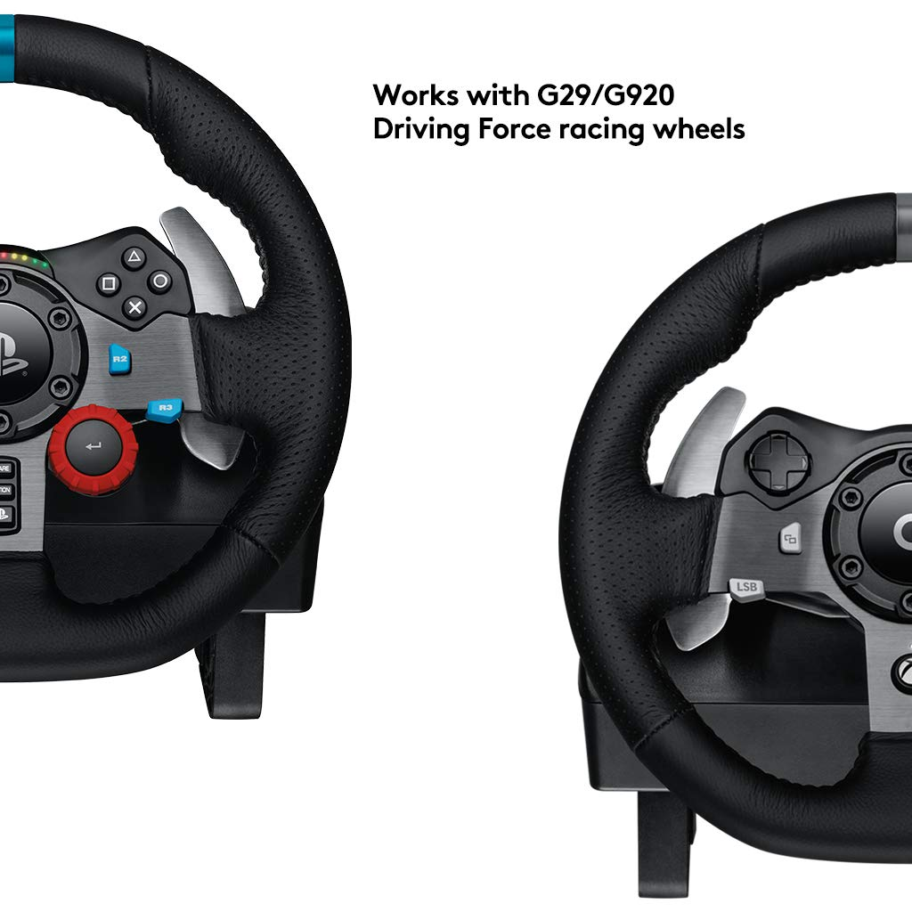 Logitech DRIVING FORCE SHIFTER Especial PlayStation 4,Xbox One Negro - Volante/mando (Especial, PlayStation 4,Xbox One, Analógico, Alámbrico, Negro, ...