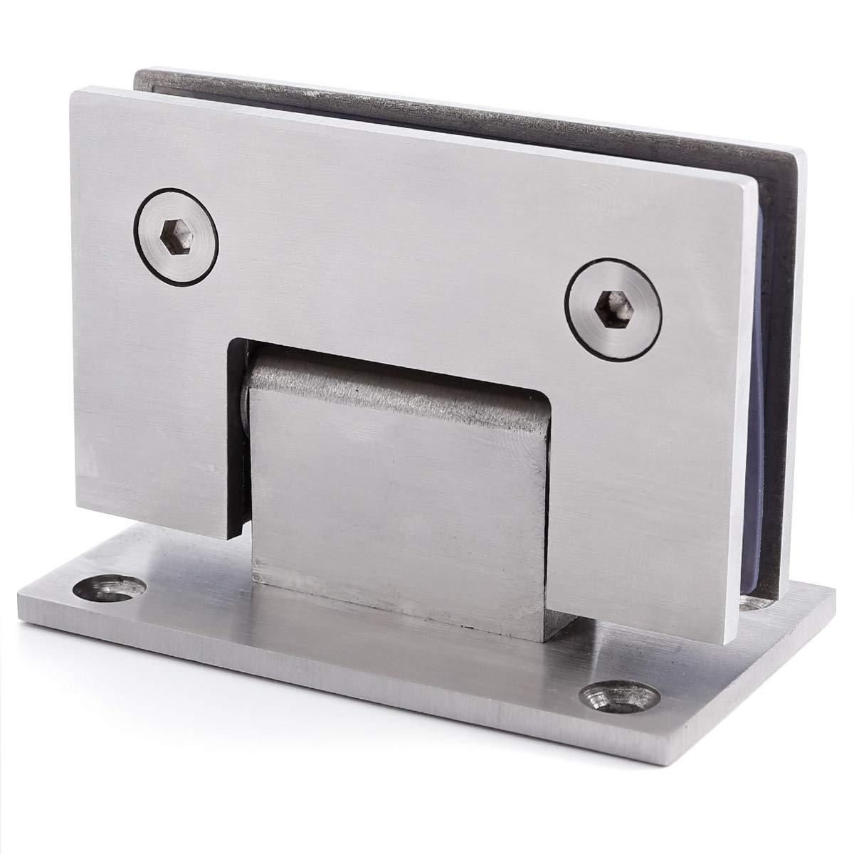 Edelstahl 8-12mm Glastür Scharnier Duschtür Türbeschlag Band Türbeschläge Beschlag