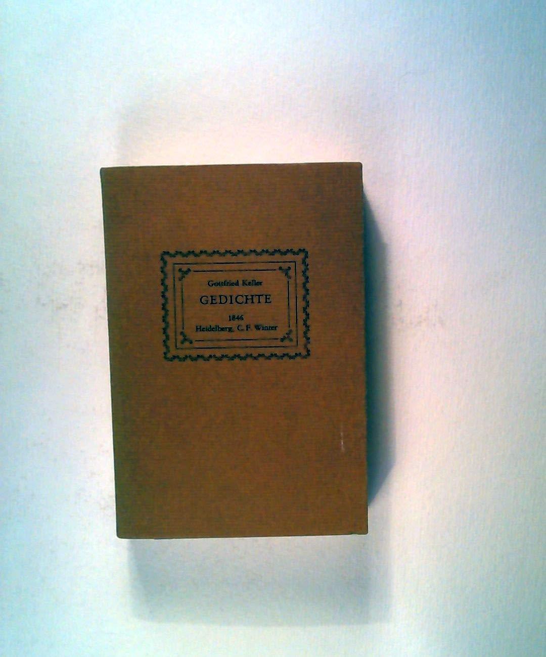 Gedichte German Edition Gottfried Keller 9783533024323