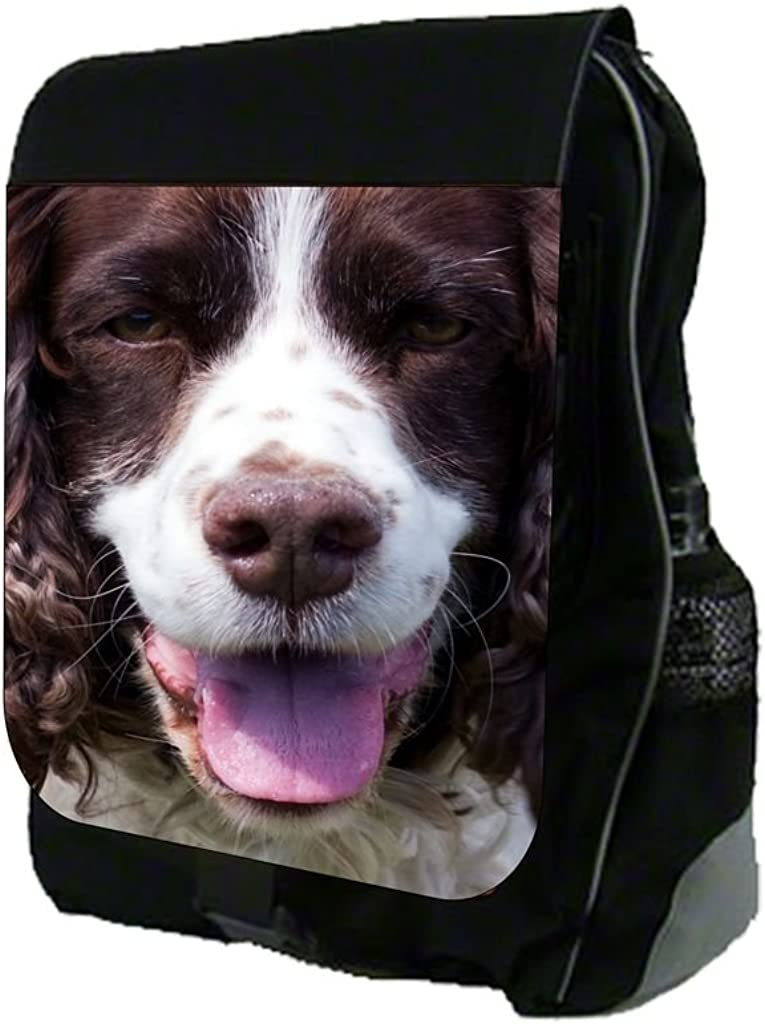 Brown and White Poodle Up-Close Print Design TM School Backpack