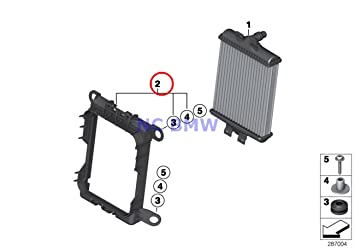 amazon com 2 x bmw genuine auxiliary radiator engine oil cooler 2 x bmw genuine auxiliary radiator engine oil cooler frame 228i 228ix m235i m235ix 228i 228ix