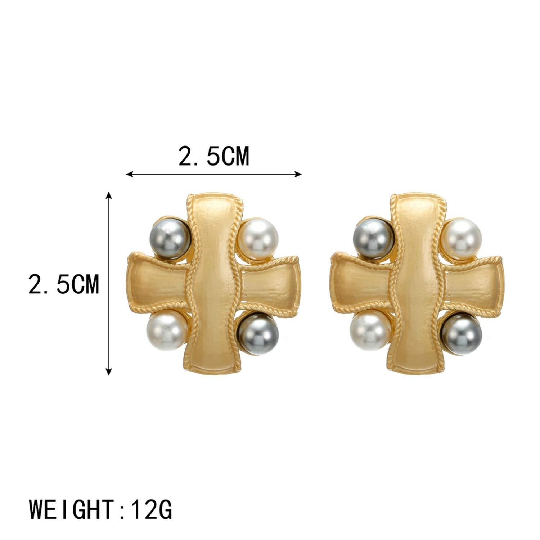 Trendy Earrings for Women Geometric//Heart//Round//Gold//Stud Earrings Fashion jewelry