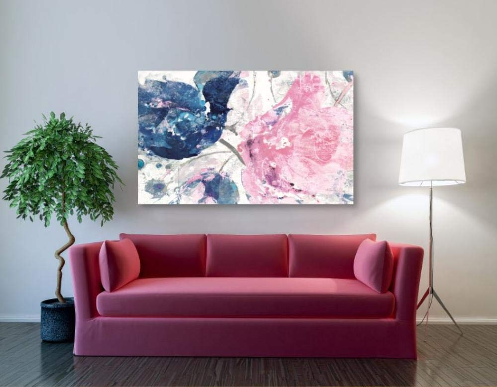 Amazon.com: Lienzo decorativo para pared, diseño de flor ...