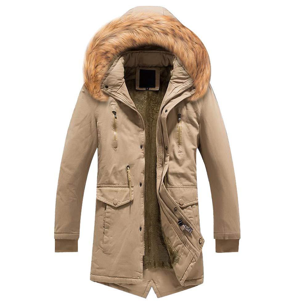 Willsa Men Coat, Camouflage Warm Overcoat Slim Long Trench Buttons Zipper Coat