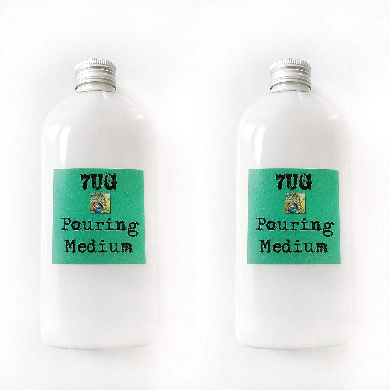 7UG - Set Risparmio con 2 Confezioni da 250 ml, per Creare bellissime strutture cellulari, Tecnica di verniciatura, Tecnica di irrigazione, ECC.