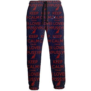 Emild Los Pantalones de chándal para Hombre Mantienen la Calma ...