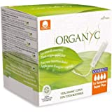 Organyc 100% Certified Organic Cotton Tampons, with Compact Plant-Based Applicator, Super Plus, 16 Count