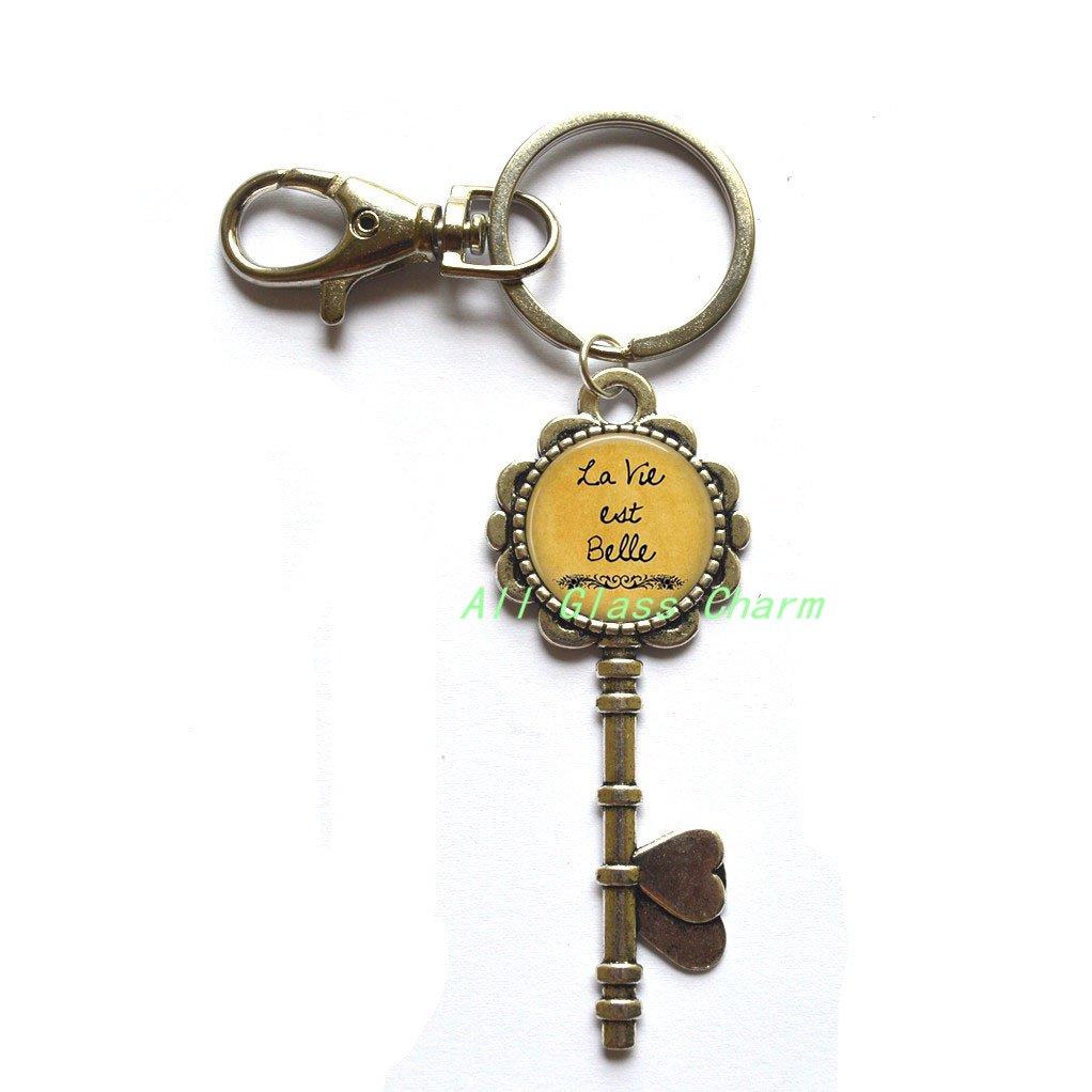 Amazon Com Charming Key Keychain La Vie Est Belle Life
