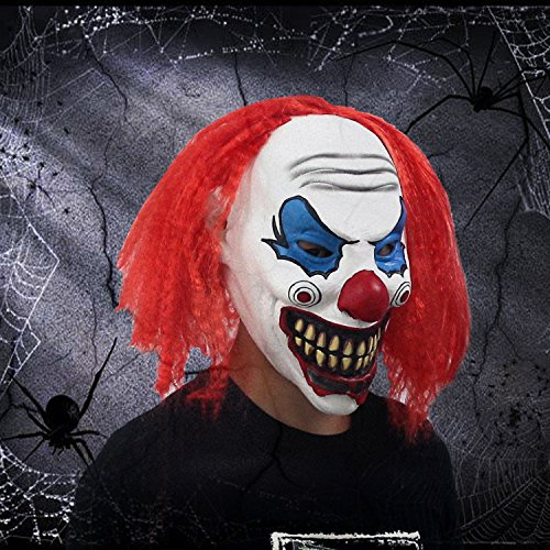 Halloween-Clown-Funny-Mask-Vampire-Zombie-Horror-Scary-Costume-Party-Decorations