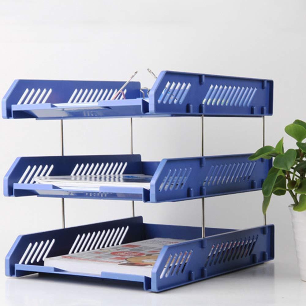Bürobedarf-Dateihalter Datenrahmen Mit Stifthalter Triple-Datei Informationen Informationen Informationen Ablagekorb Schreibwaren Studentenbedarf-Dateihalter (Farbe   Blau) B07L9VFPFK | Sehr gelobt und vom Publikum der Verbraucher geschätzt  2cba64