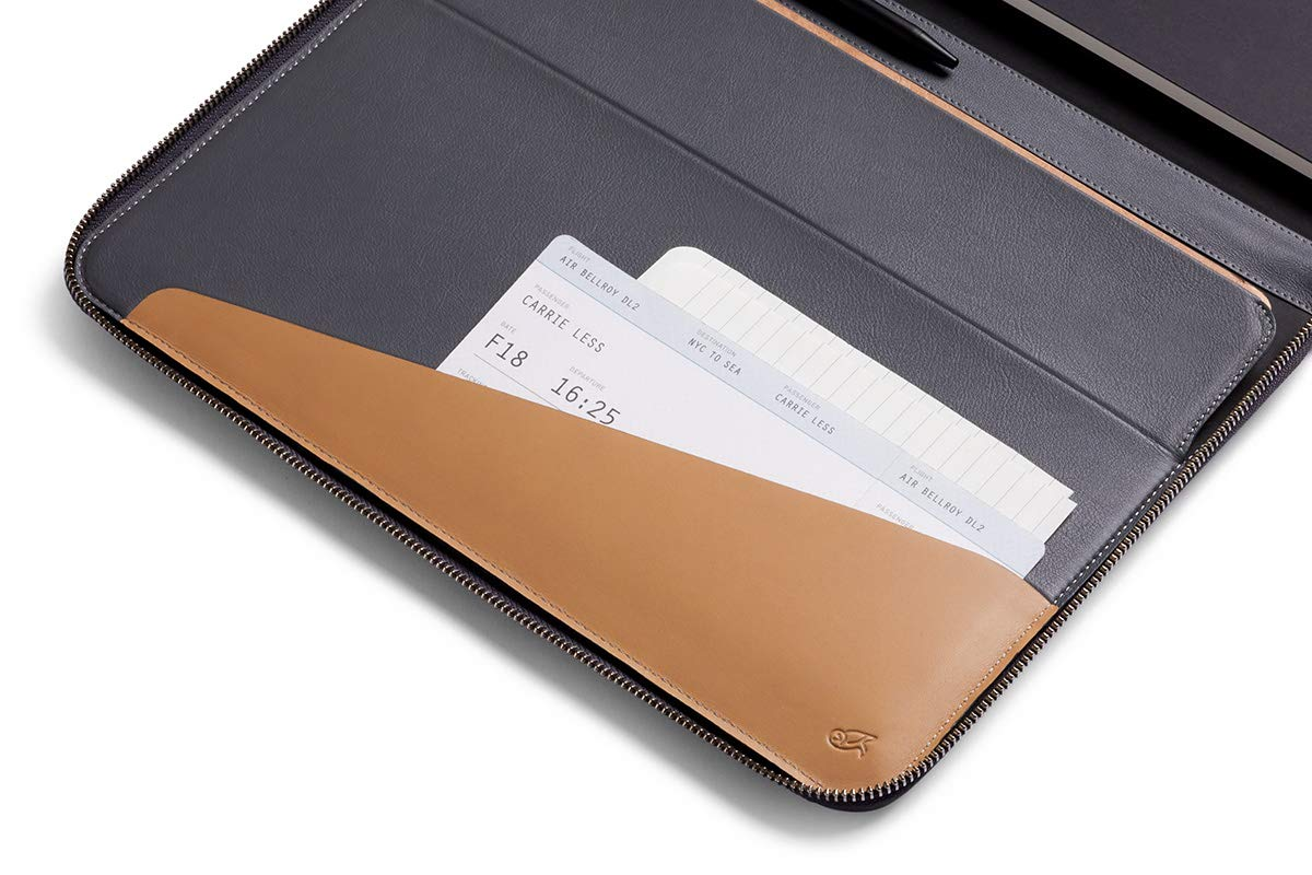 Bellroy Work Folio A4, accesorios de trabajo (cuaderno A4, bolígrafos, dispositivos, cables y material de papelería) - Graphite