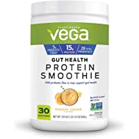Vega Gut Health Protein Smoothie Orange Ginger Flavored Drink Mix Net Wt 29.9 Ounce