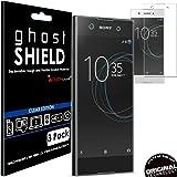 [confezione da 3] Techgear® Sony Xperia XA1 [Ghostshield Edition] Genuine rinforzato TPU proteggischermo copre con schermo intero copertura con schermo curvo superficie [3D curvo protezione bordi]