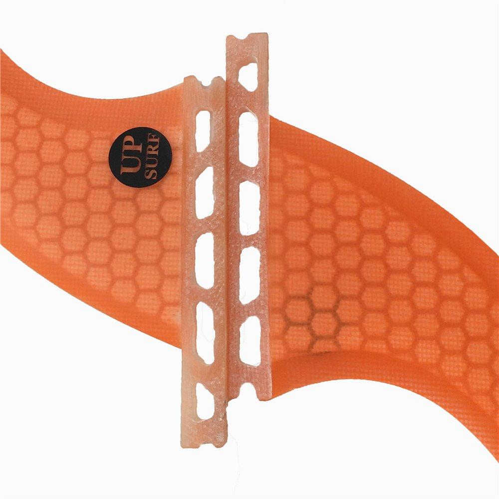 UPSURF Future Surfboard Fin Fiberglass+Honeycomb Quad Orange Fin