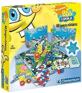 Clementoni  Juego de tablero de Bob Esponja 80 juegos clsicos