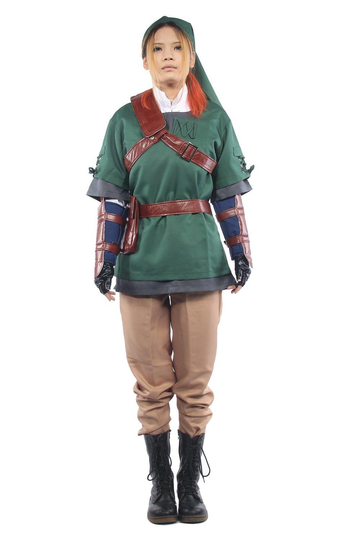 The Legend of Zelda Twilight Princess Sprites Cosplay Costume Link Outfit