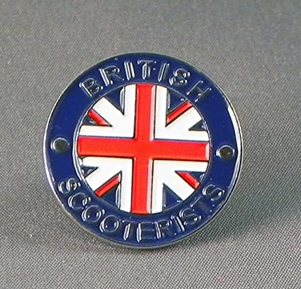 MOD TARGET ON BRITISH UNION JACK SCOOTER MOD BADGE