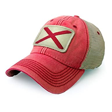 31732795bcb Image Unavailable. Image not available for. Color  State Legacy Revival  Alabama Flag Patch Trucker Hat ...