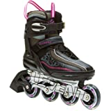 5th Element Lynx LX Womens Recreational Inline Skates, Black and Pink Rollerblades