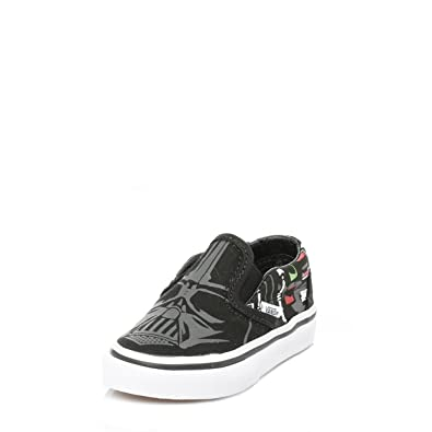 Vans Enfant Star Wars Noir Darth Vader Slip On Baskets UK 9 Enfant