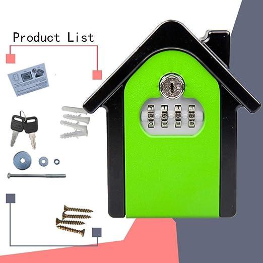 CC- Key Safe Box Caja de Cerradura con Llave, Caja de Cerradura de Almacenamiento Segura con