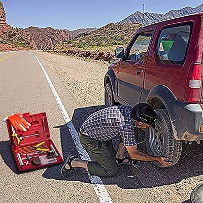 AUTOWN Flat Tire Repair Kits, 62 Pcs Universal Tire Plug Kit Heavy Duty Flat Tire Puncture Repair Kit for Cars, Trucks, Motorcycles, ATV,RV, Jeep, Tractor, Trailer: Automotive