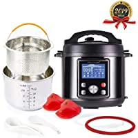 Simfonio Electric Pressure Cooker 6Qt - Simpot 10-in-1 Steamer Pot Rice Cooker Slow Cooker Egg Cooker Multi Cooker - Stainless Steel Hot Pot with Pressure Cooker Cookbook