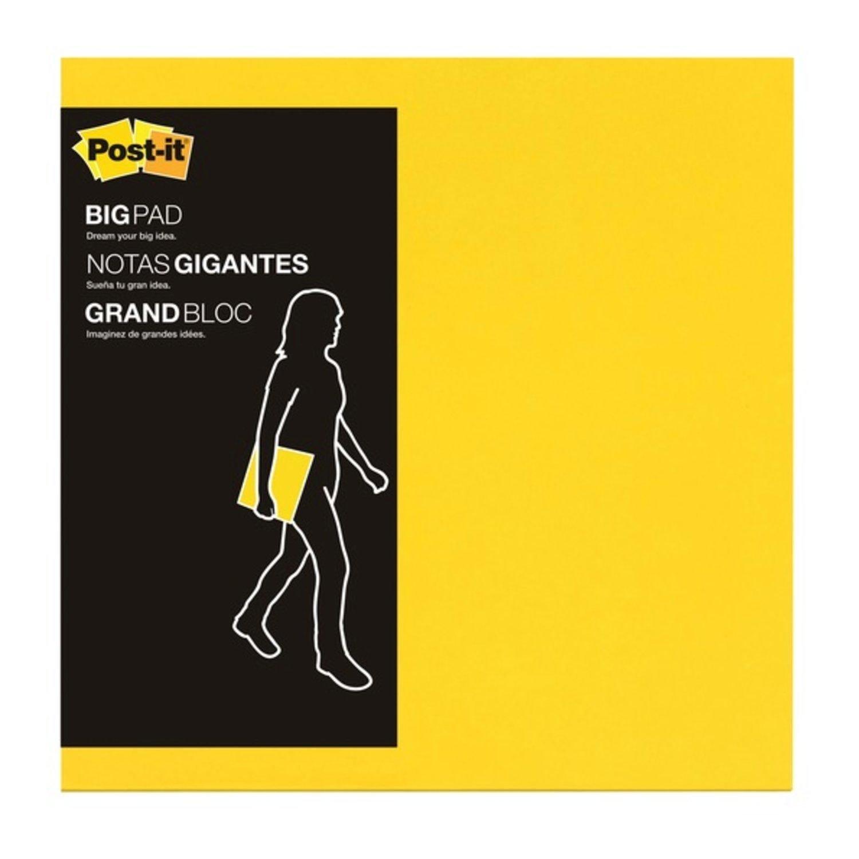Amazon.com : Post-it Big Pad, 11 in x 11 in, Bright Yellow, 30 ...