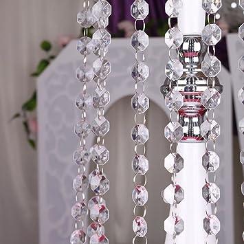 10x 1 m Kristallgirlande Kristallkette Diamanten Deko Acryl Kristall Kette
