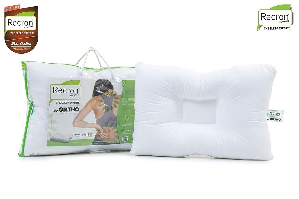 Recron Certified Dr. Ortho Fibre Pillow - 41 cm x 61 cm, White