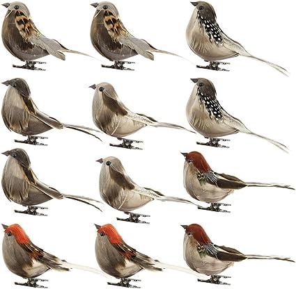 Amazon Com 12 Pcs Bird Decorative Figurines Artificial Feather Foam Doves Simulation Mini Cute Sparrow Figures Animal Model Toys Plush Bird For Wedding Decor Venue Ornament Kids Gifts Multicolor Toys Games