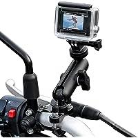 TKOOFN GoPro uchwyt na motocykl do aparatu, obracany o 360 stopni uniwersalny metalowy rower motocykl uchwyt na…