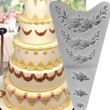 Moule Couronne Fleurs Decoration Gateau Gateaux Roses Pate Sucre