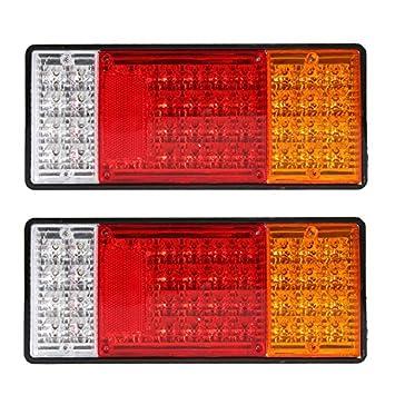 HEHEMM 44 LEDs LKW-hinteres Rücklicht Wasserdichtes Auto-Warnlicht ...