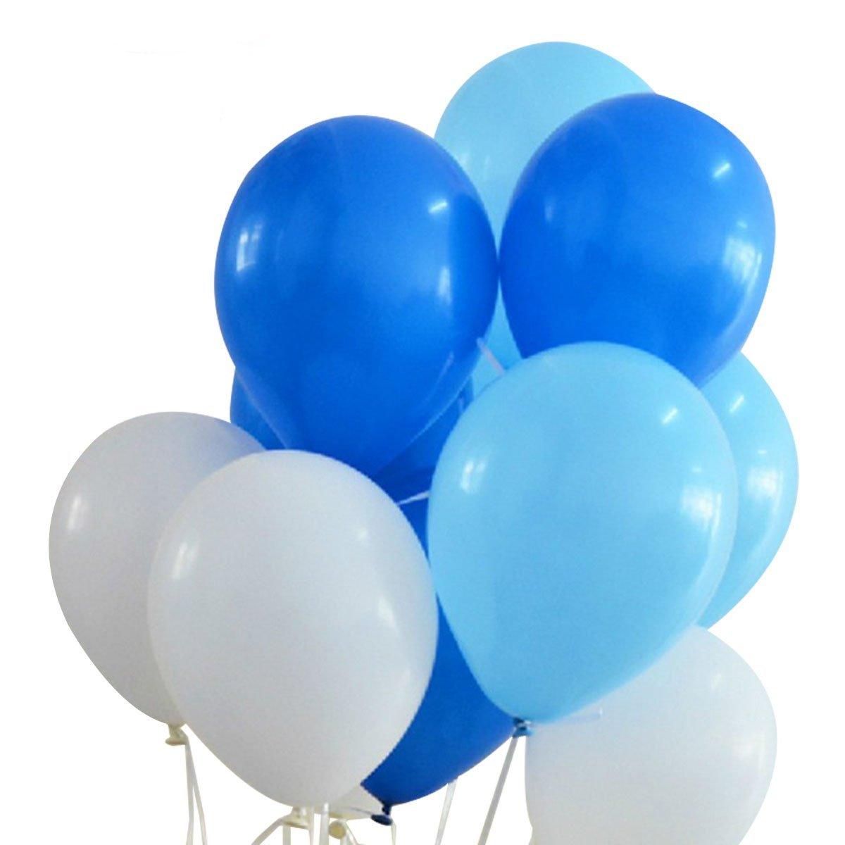 Amazon Com Qishi Ballons Party Balloons Childrens Party Large Balloons Size12 White Blue Light Blue Balloons 100pcs Pack Toys Games