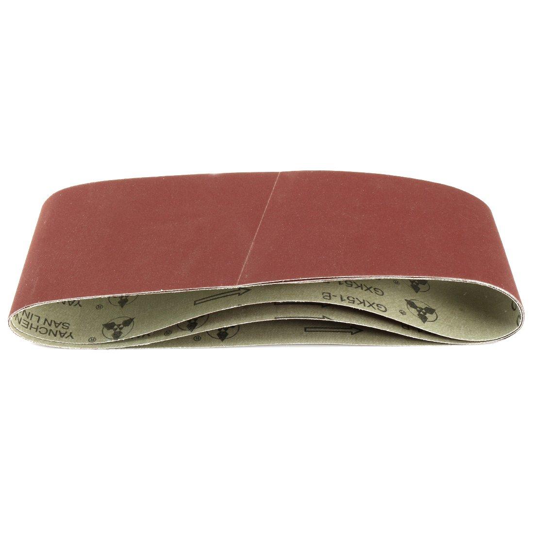 uxcell 3-Inch x 21-Inch 600 Grit Tape Joint Aluminum Oxide Sanding Belt 3pcs