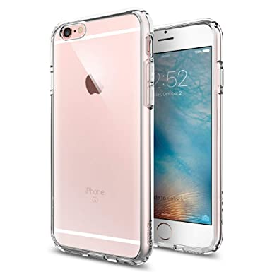 competitive price d8694 9723d Spigen Ultra Hybrid, iPhone 6S Case, iPhone 6 case with No yellowing  effect, Reinforced Camera Protection and Air Cushion Technology - Crystal  Clear