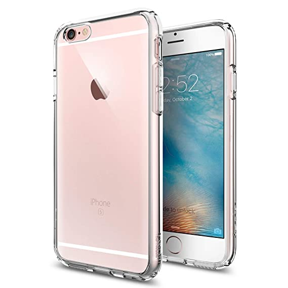 best service c9be3 6836b Spigen Ultra Hybrid Designed for Apple iPhone 6S Case (2015) - Crystal Clear