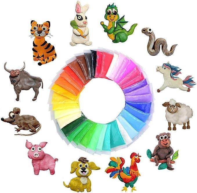 Kit fluffy slime fai da te kidshobby 36 colori putty floam sollievo dallo