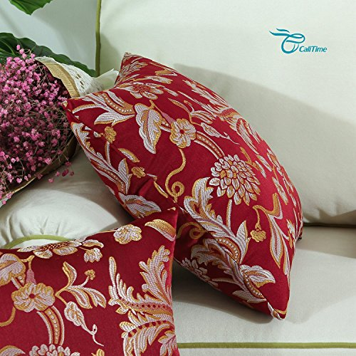 Vintage Throw Pillow Covers 18x18 : CaliTime Throw Pillow Covers 18 X 18 Inches Reversible, - Import It All