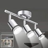 Osairous Lámpara de Techo LED, Luz de Techo de Cúpula de Varilla Múltiple de 3 Cabezales,…