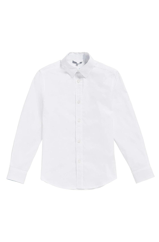 Good Shirt Camicia Bianca Bambino Camicia Festosa in Cotone. Camicia Oxford a Maniche Lunghe. Camicia Formale Bambino