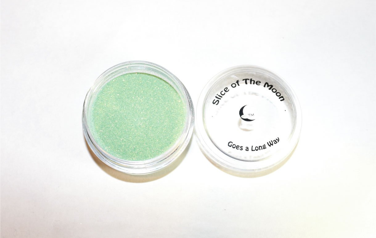 Holographic Light Green Glitter Powder 15g - Solvent Resistant Glitter Powder, Slice of the Moon