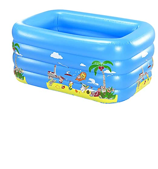 HYRHYT 3 Aros Piscina Familiar Hinchable Rectangular Plegable ...