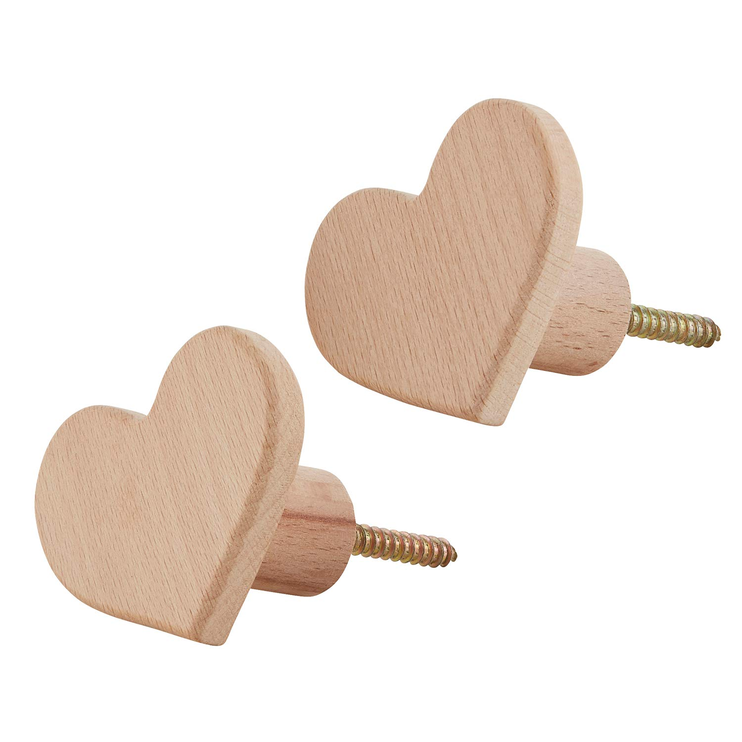 Hearts Stephan Baby Stephan Baby Beechwood Wall Hooks Available in 3 Shapes Pack of 2