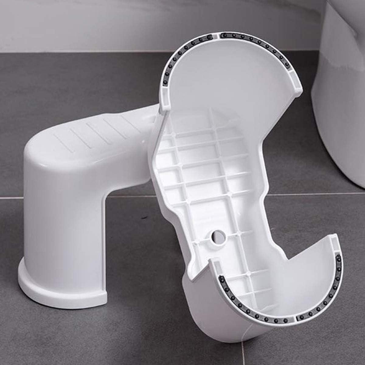 Brandless Potty Step,Toilet Stool Potty Bathroom Squatting Stool Healthier Way Toilet Posture Space Saver Stackable Toilet Stools,6.7 White White 2pcs