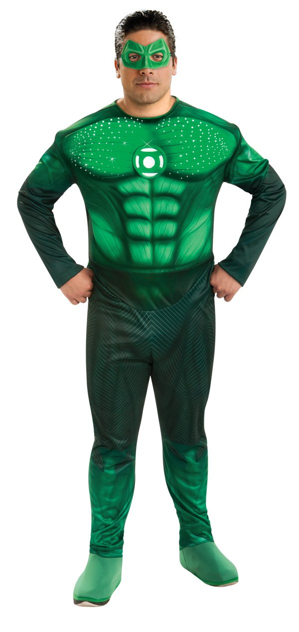 Rubie's Green Lantern Deluxe Full Figure Hal Jordan Plus size Costume With Light Up Muscle Chest, Green, One Size