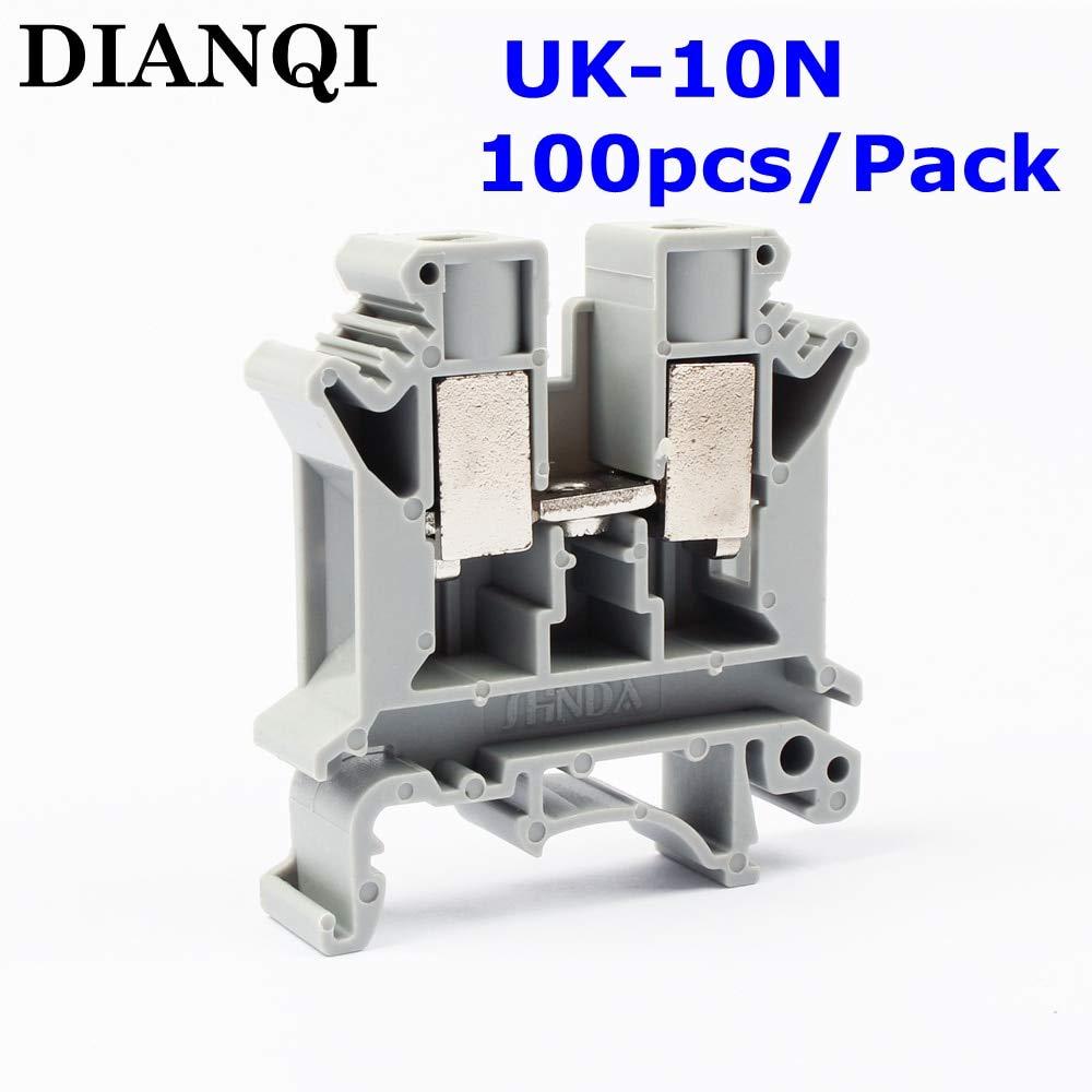 Davitu UK-10N UK Series Universal Terminal Block Terminal Connector/Cable Connector/Wire Connector/Splice 100PCS/Pack